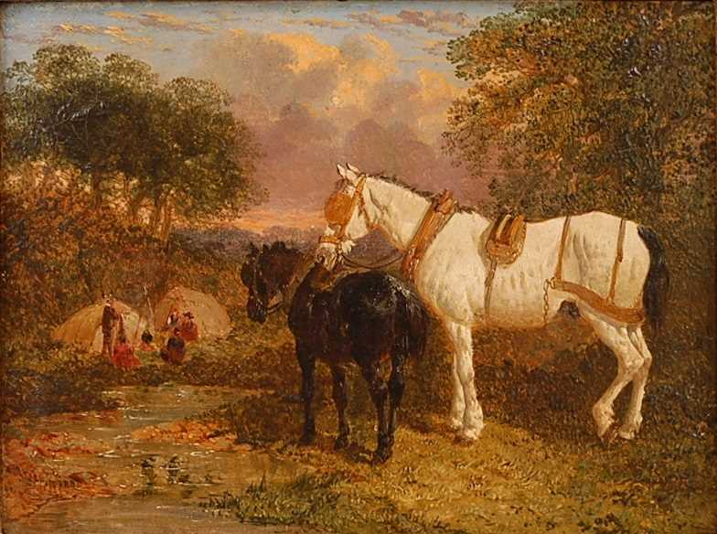 John Frederick Herring Jnr (1815-1907) - Pair: Farmyard scene with horses and chickens, and - Image 3 of 9