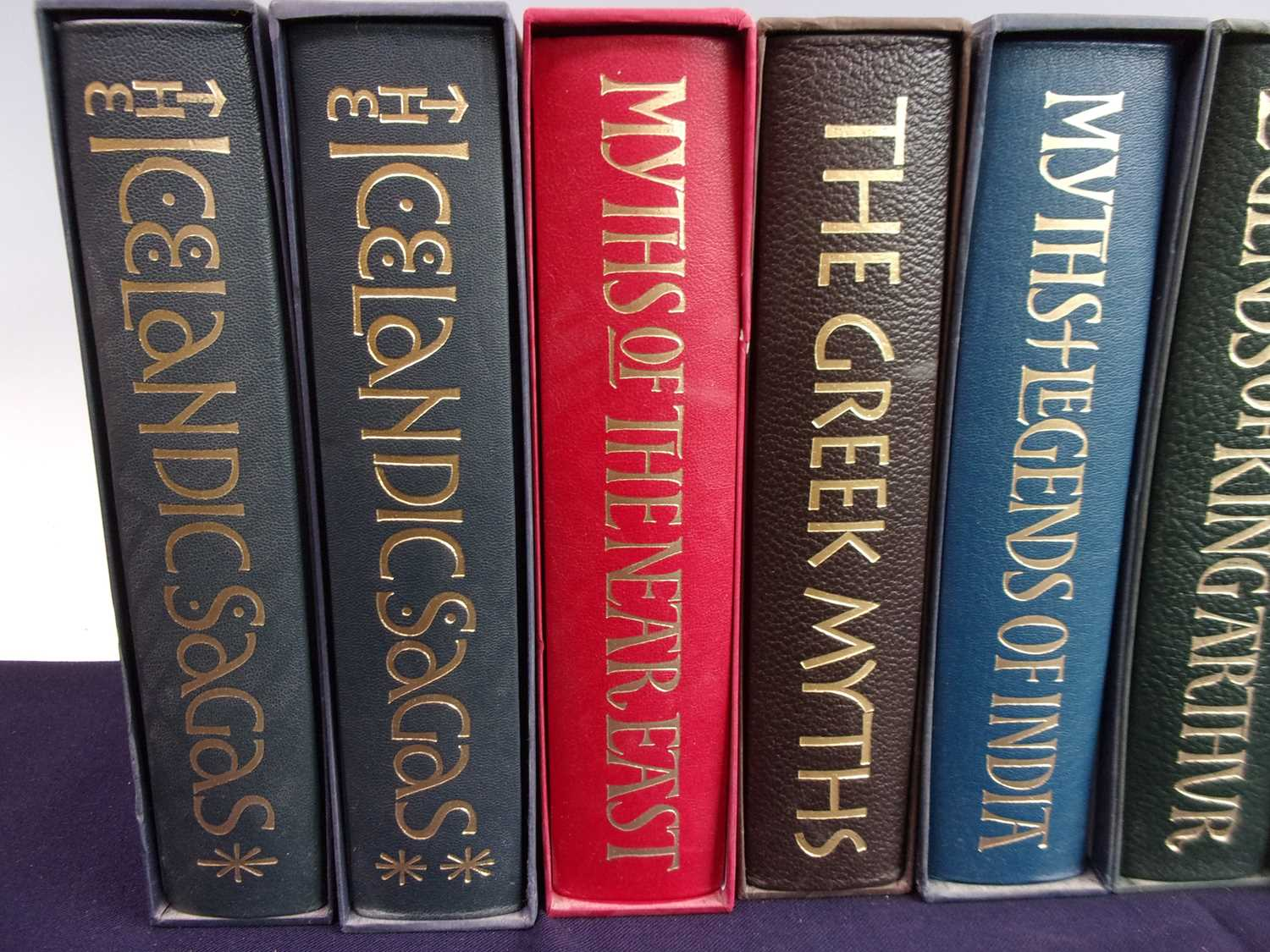 A Collection of Folio Society Myths and Legends to include Icelandic Sagas (2 vols), Greek Myths, - Image 2 of 3