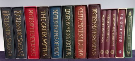 A Collection of Folio Society Myths and Legends to include Icelandic Sagas (2 vols), Greek Myths,