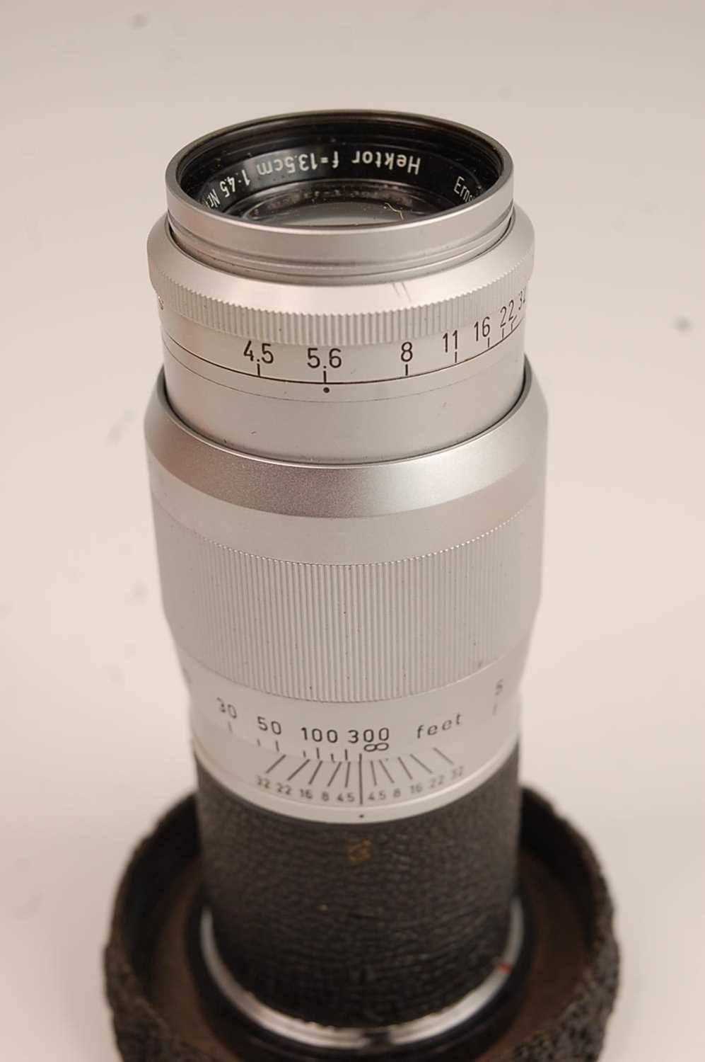 A Leica M3 35mm Rangefinder camera, serial number M3-732262, with F=5cm 1:2 lens numbered 1254728, - Image 6 of 8