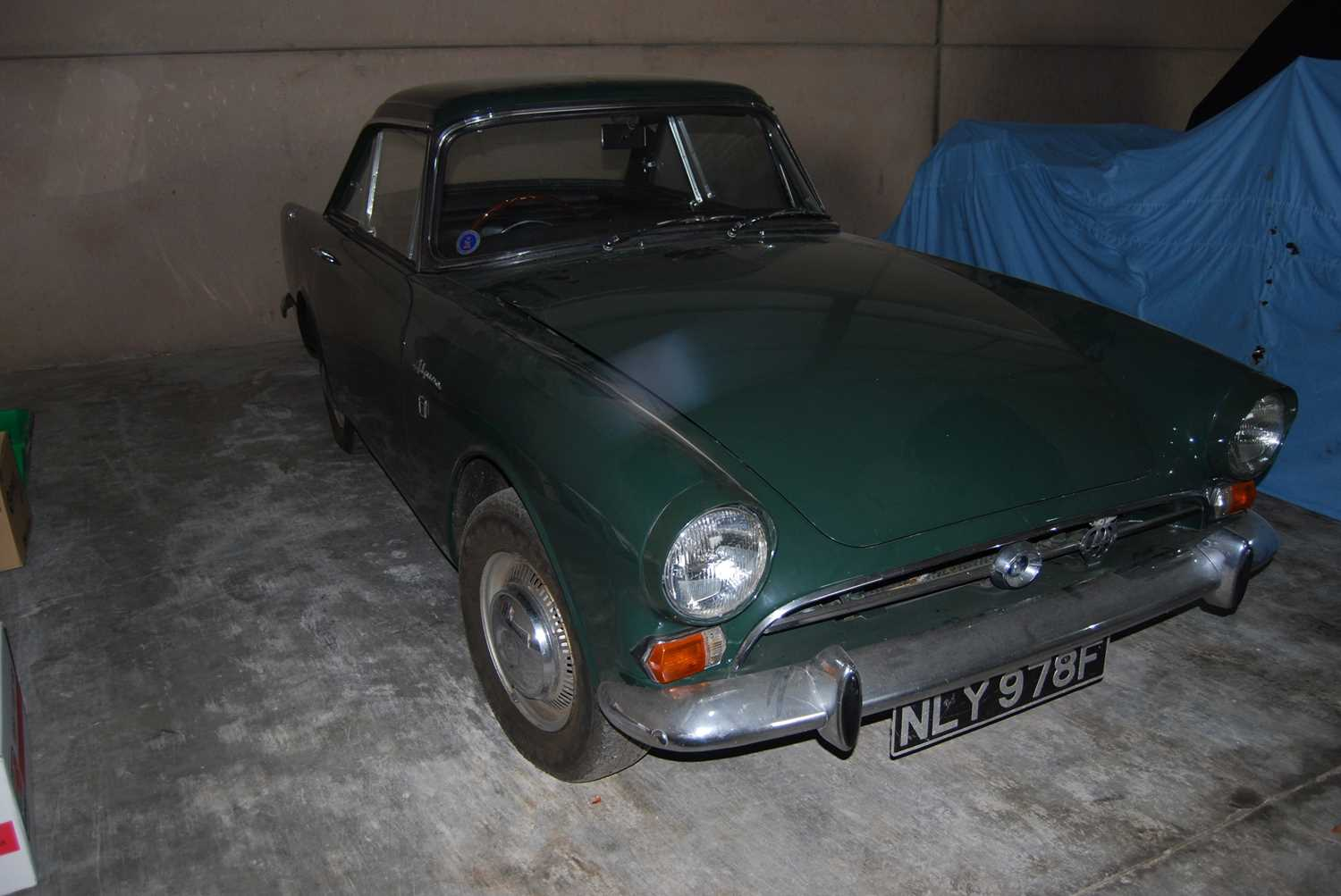 A 1968 Sunbeam Alpine Series V GT Reg No. NLY978F Chassis No. B395016307GTOD Green with Black - Image 12 of 43