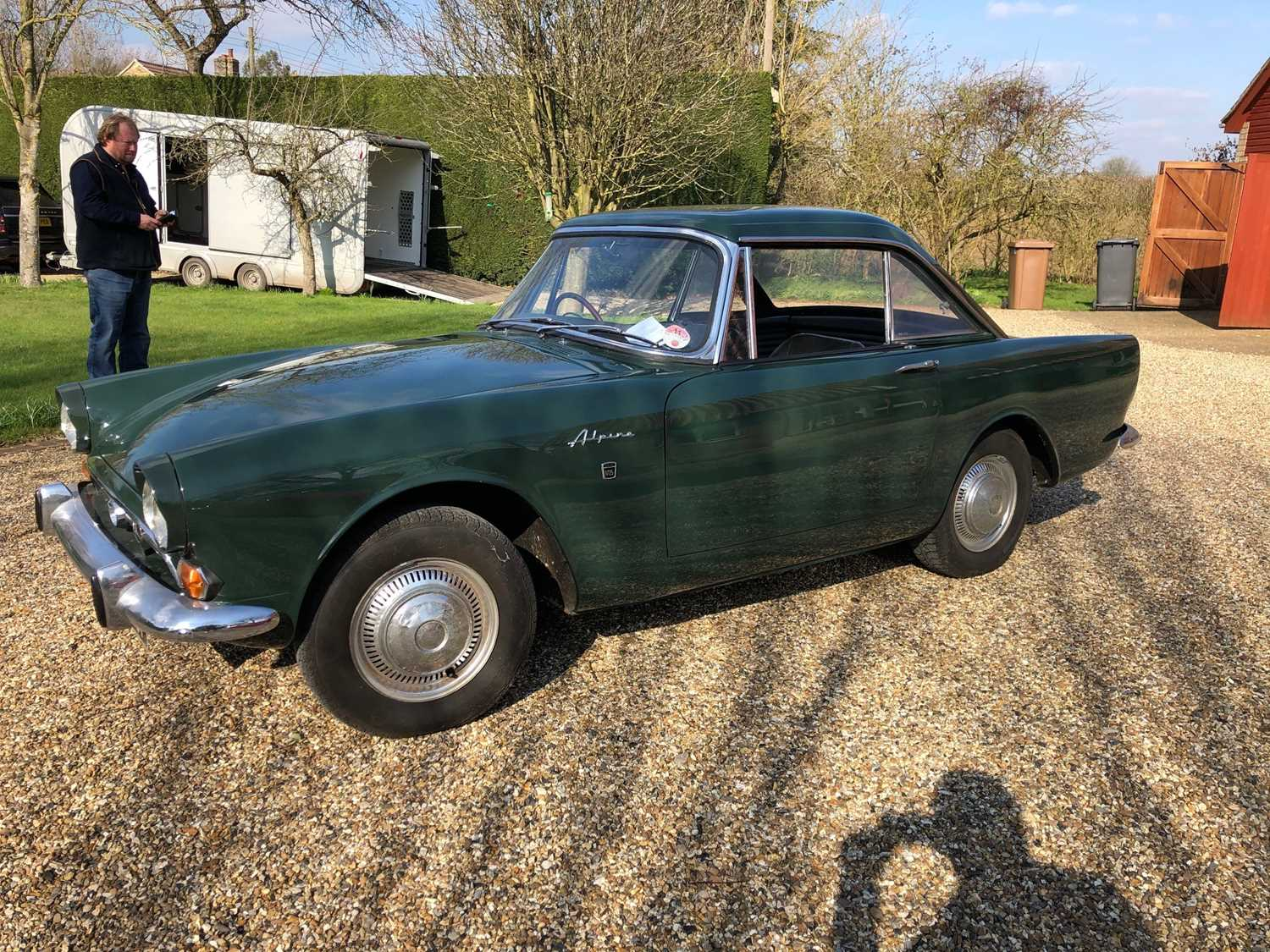 A 1968 Sunbeam Alpine Series V GT Reg No. NLY978F Chassis No. B395016307GTOD Green with Black - Image 2 of 43