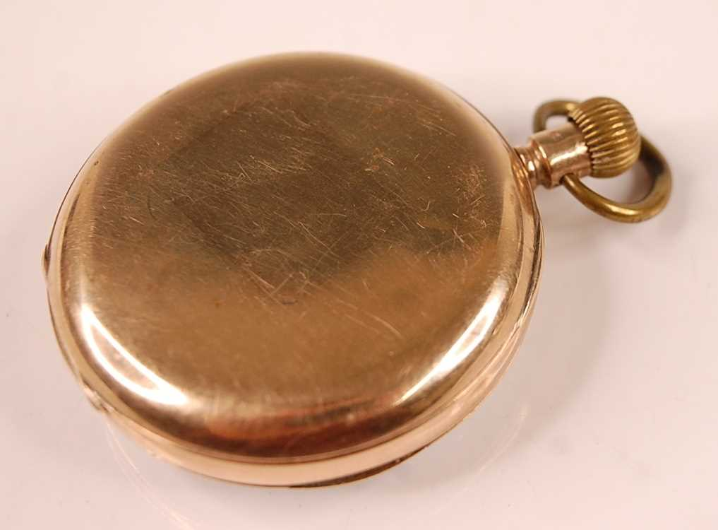 An Edwardian gent's 9ct gold cased open faced pocket watch by Thomas Russell & Son of Liverpool, - Image 2 of 3