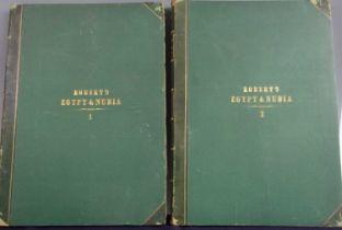 ROBERTS, David, R.A. Egypt & Nubia. F.G. Moon, London. 1846 & 1849. 1st standard edition. 2 vols,