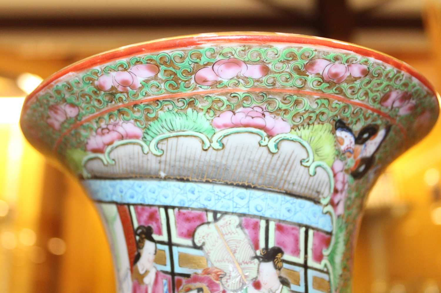 A 19th century Chinese Canton famille rose vase, enamel decorated with ceremonial figure scenes - Image 15 of 18