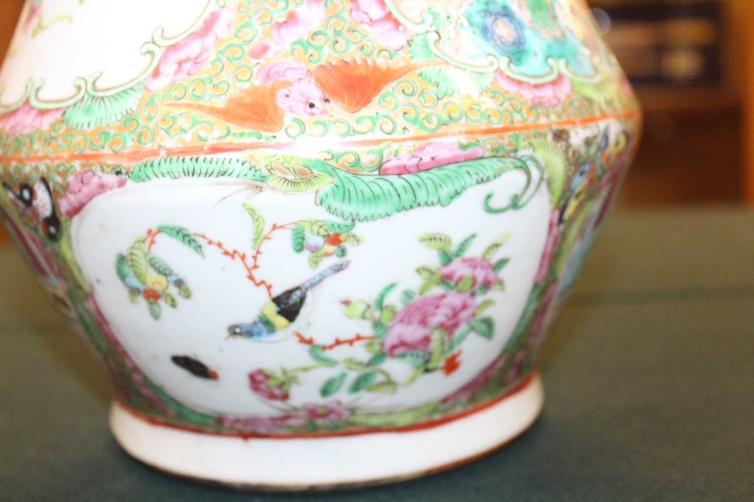 A 19th century Chinese Canton famille rose vase, enamel decorated with ceremonial figure scenes - Image 10 of 18