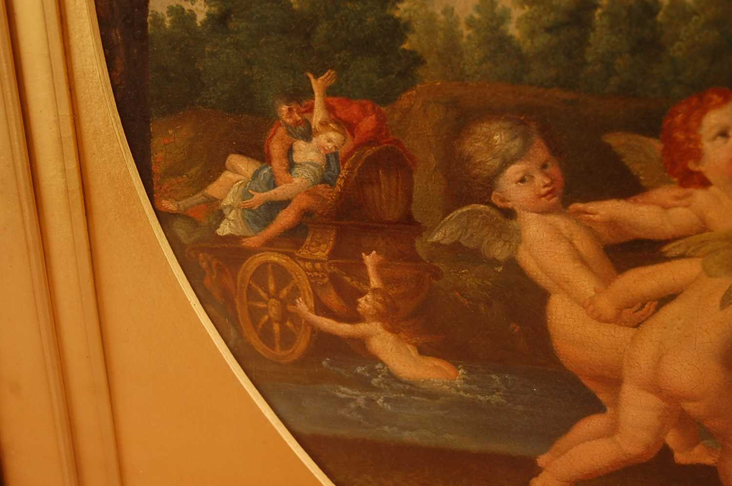 Guandallini Cententa (Italian 19th century) - Rape of Proserpine, oil on canvas, signed and dated - Image 4 of 9