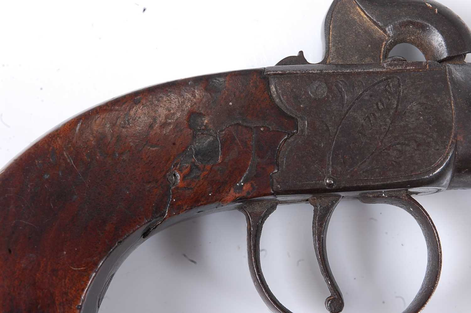 A pair of 19th century percussion box-lock pocket pistols by Durs Egg, each having a 4.5cm turn- - Image 5 of 7