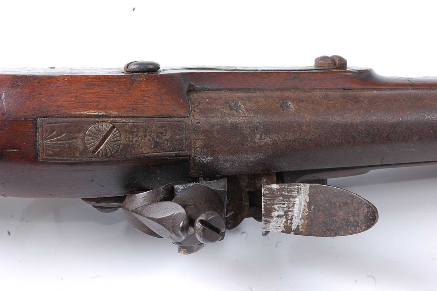 An early 19th century East India Company flintlock pistol, the 22cm barrel marked London, the - Image 4 of 7