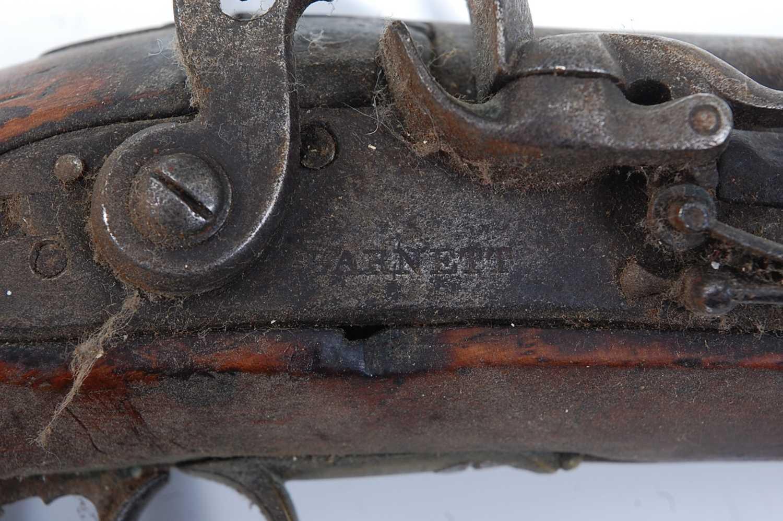 An early 19th century flintlock Revenue Customs Service Issue pistol, the 11cm circular barrel - Image 3 of 9