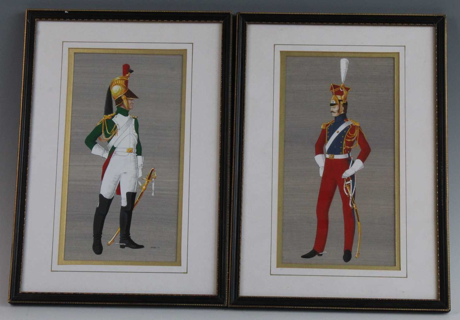 Spear, (20th century), British Officer of the Napoleonic Wars mounted on horseback, gouache, - Image 4 of 4