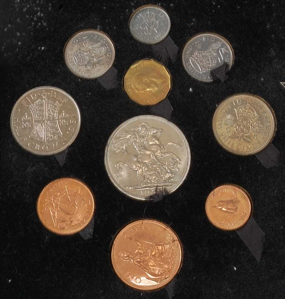 Great Britain, 1951 Festival of Britain ten coin proof set, Crown to Farthing, boxed. (1) - Image 2 of 3