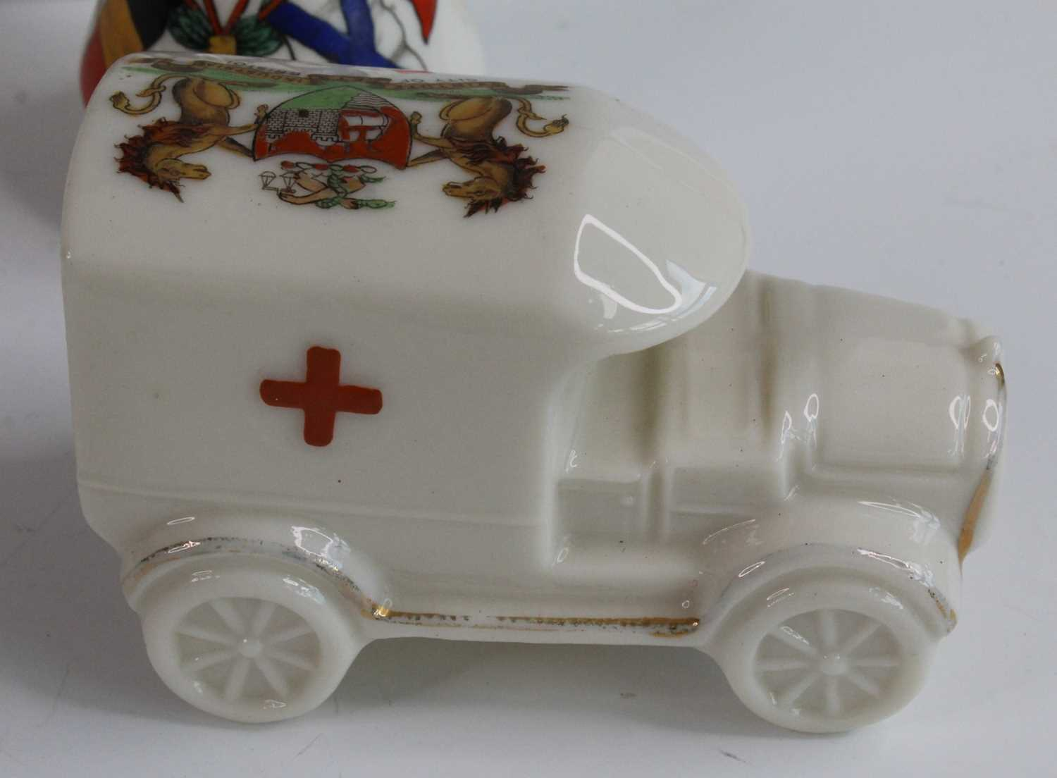 A collection of WW I / Military related crested cabinet china to include a W.H. Goss beaker - Image 8 of 12