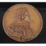 Attributed to Jean Warin (Flemish 1607-1672) - a bronze medal commemorating the appointment of