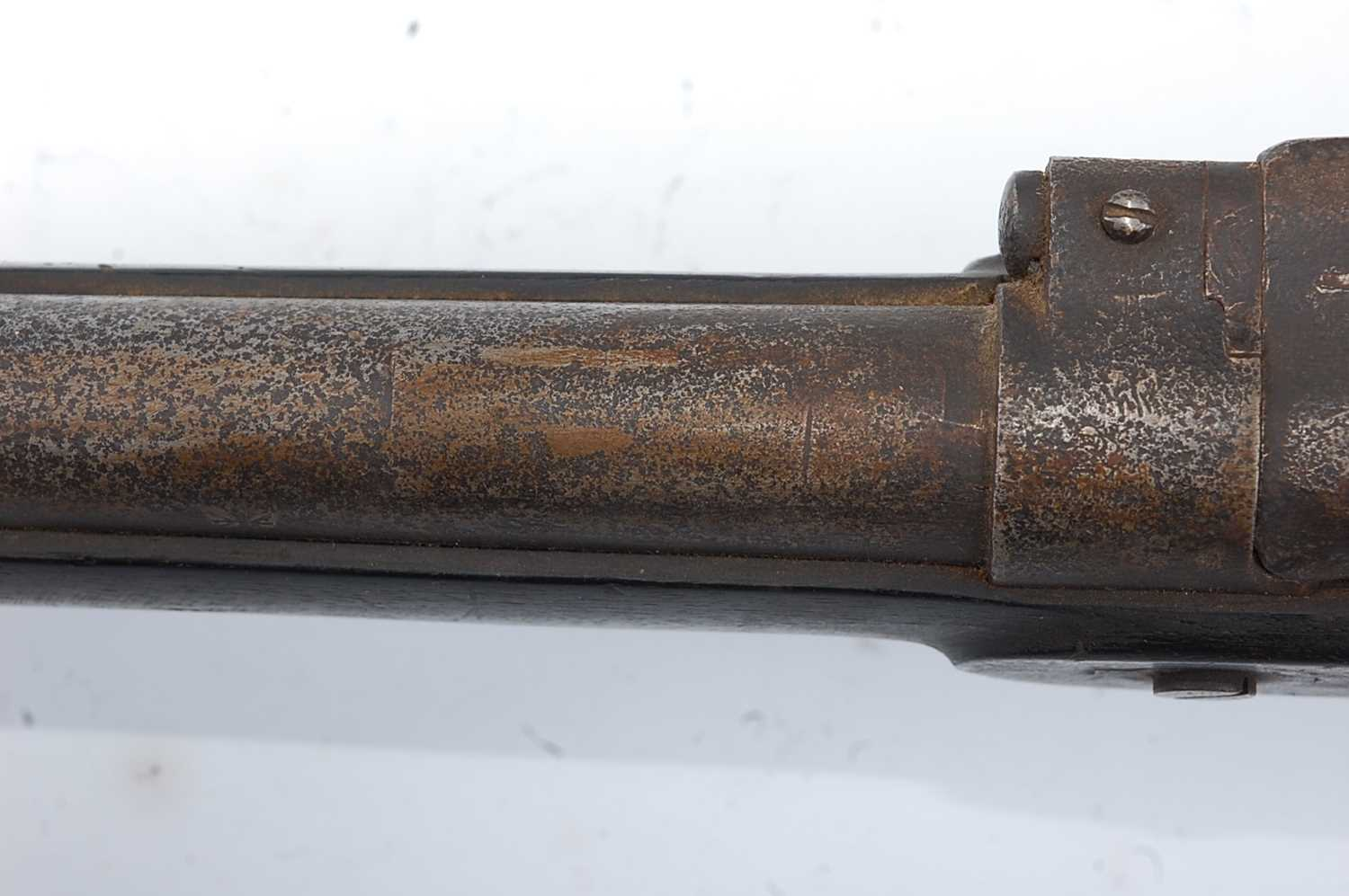 A Victorian .577 Snider breech loading two band rifle, having a 75cm barrel (lacking sight) with - Image 6 of 8