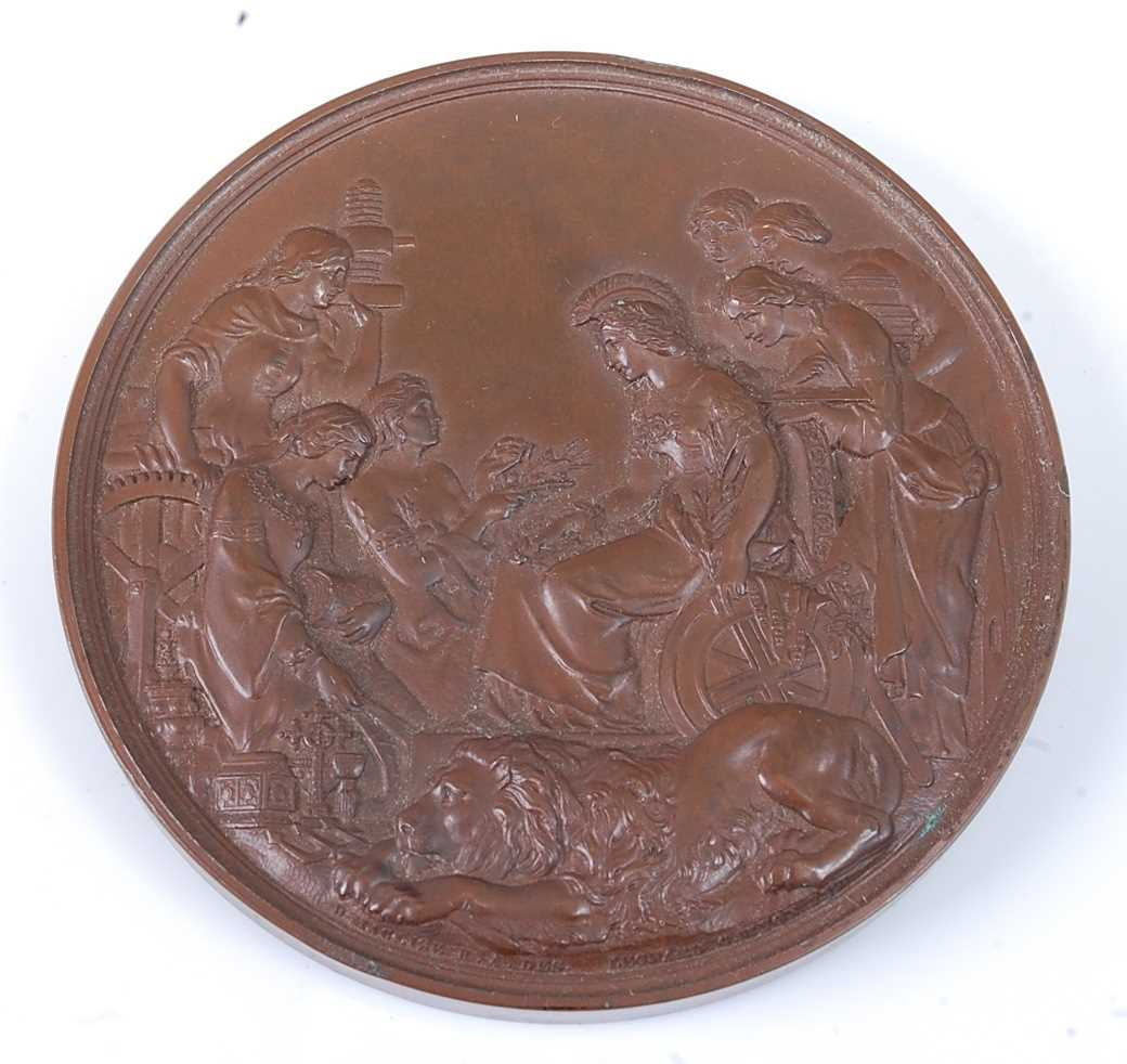 London Exhibition 1862, prize medal in bronze, awarded to REV. A. DUCANE. CLASS XXIX., engraved by