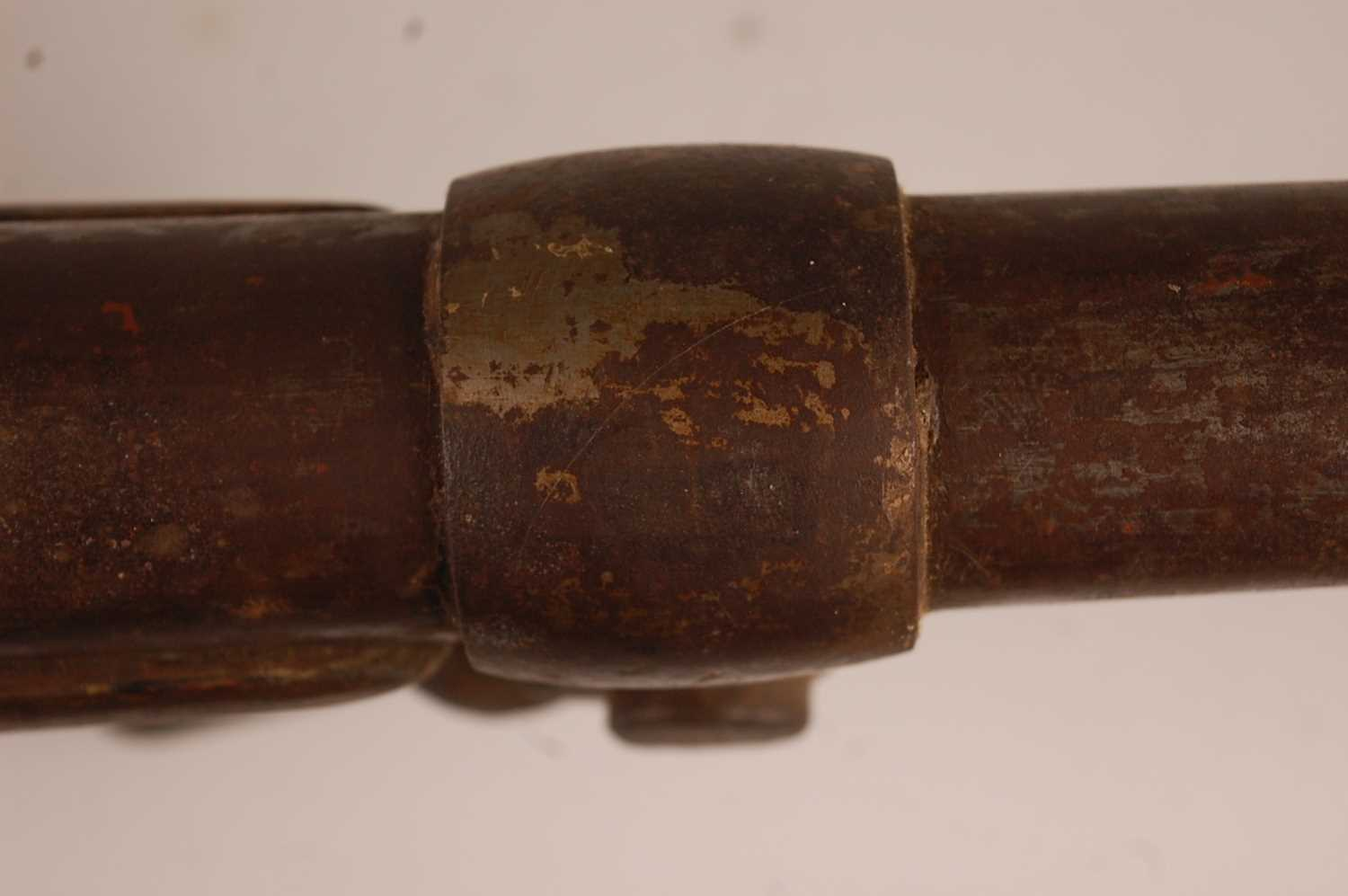 Alfred Clayton, a large 19th century fowling bank or punt gun, the 108cm large bore barrel with - Image 6 of 13