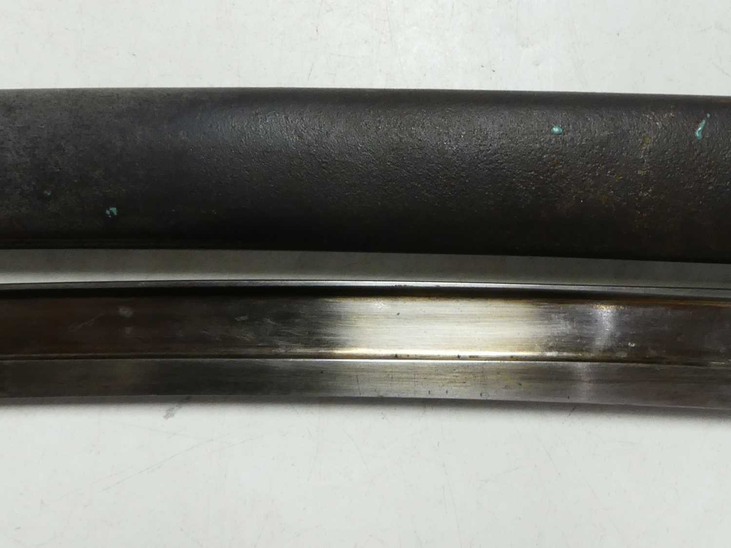 A French model 1866 Chassepot bayonet, the 57cm Yataghan shaped blade etched to the back edge Mre d' - Image 7 of 12