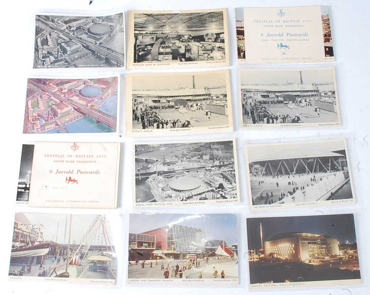 A large collection of 1951 Festival of Britain postcards, seemingly arranged by places or publishers - Image 2 of 9
