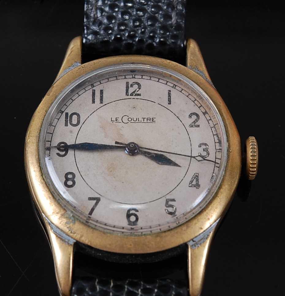 A Gentleman's Jaeger LeCoultre Military Issue Pilot/Navigators wristwatch, circa 1943, having a