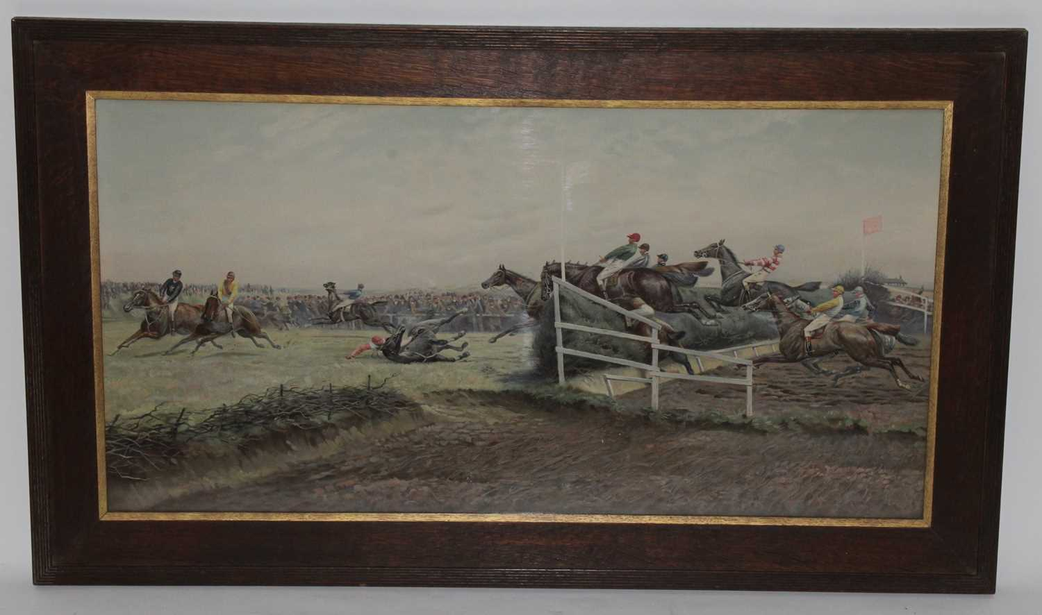 After Major Geoffrey Douglas Giles (1857-1941), The Canal Turn, Grand National Aintree,