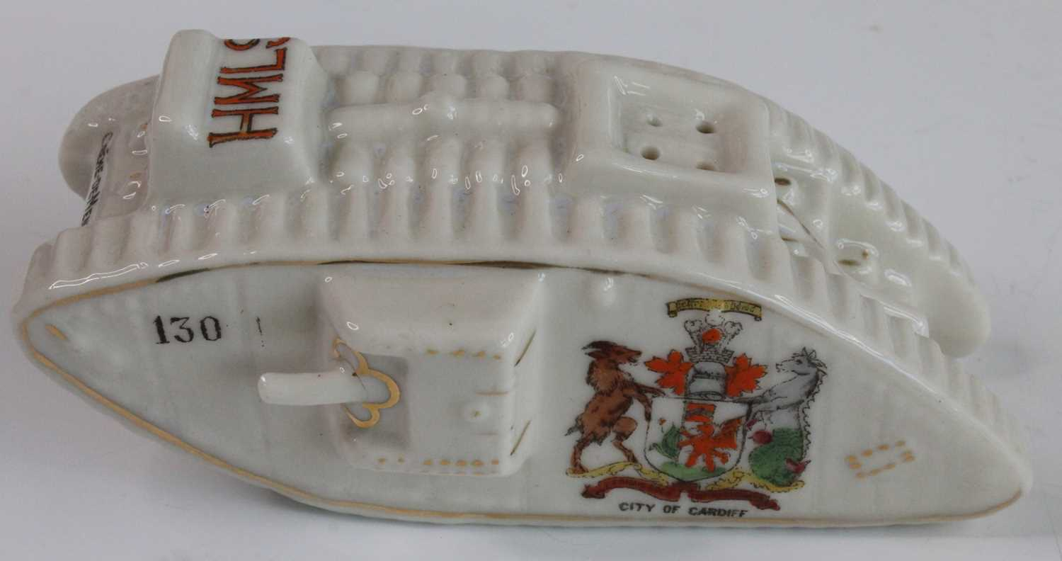 A collection of WW I / Military related crested cabinet china to include a W.H. Goss beaker - Image 6 of 12