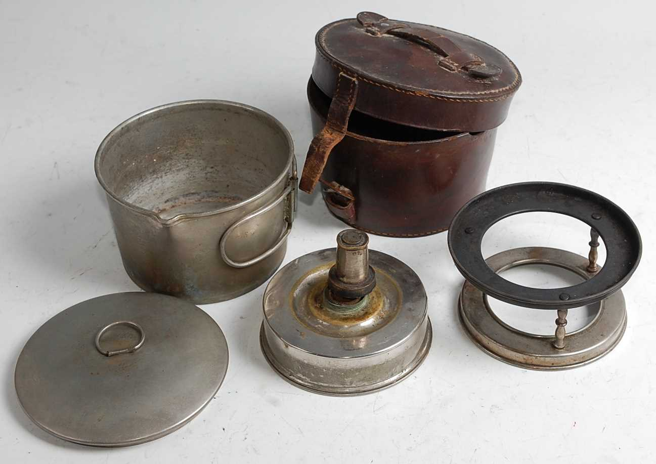 An Army & Navy Co-op Stores Ltd. campaign spirit stove and saucepan, in fitted leather case, - Image 2 of 5