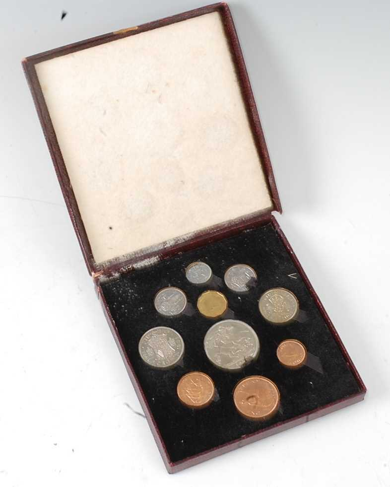 Great Britain, 1951 Festival of Britain ten coin proof set, Crown to Farthing, boxed. (1)