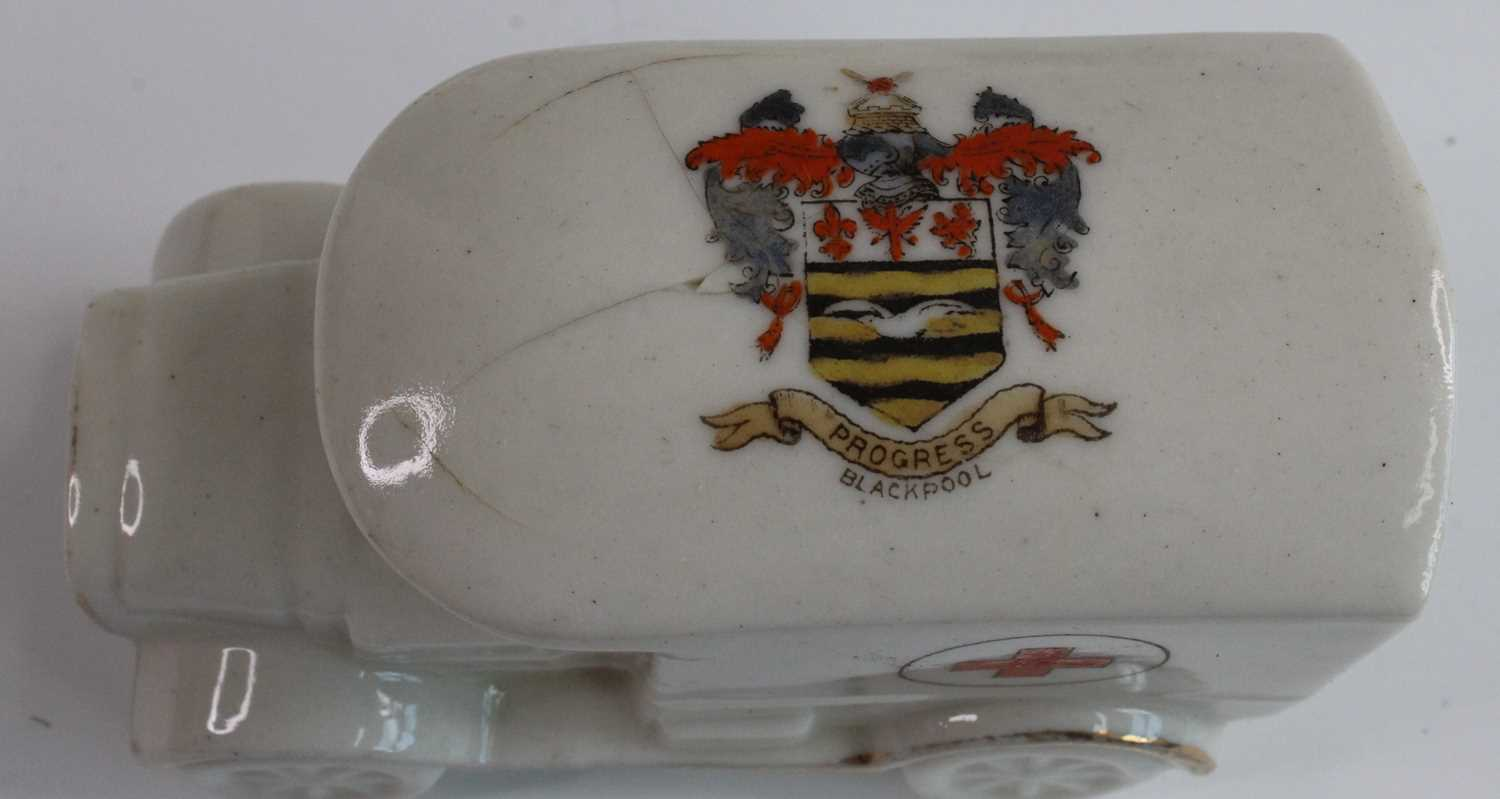 A collection of WW I / Military related crested cabinet china to include a W.H. Goss beaker - Image 3 of 12