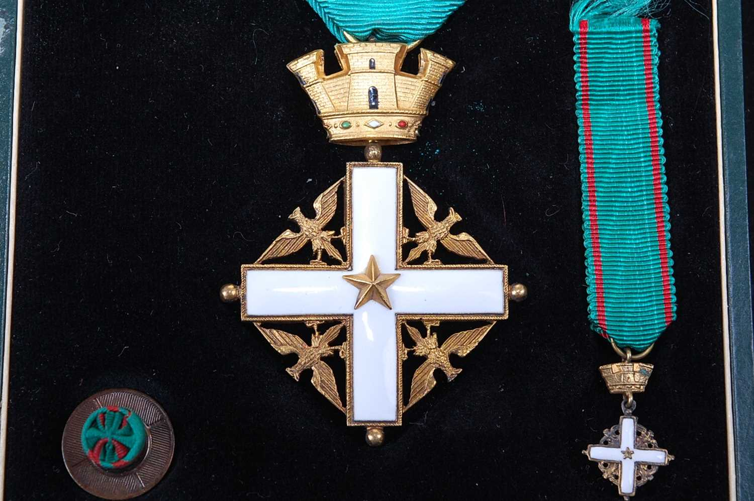 An Order of Merit of the Italian Republic, Knights 5th class breast badge, together with the - Image 2 of 6