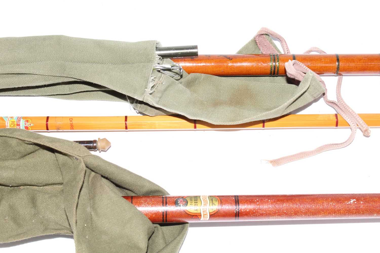 A Pegley-Davies Dorset 12' split cane three piece rod in F.T. Williams & Co Ltd canvas bag, together