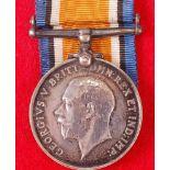 A WW I British War medal, naming 15098. PTE. J. WHITE. S. STAFF. R.