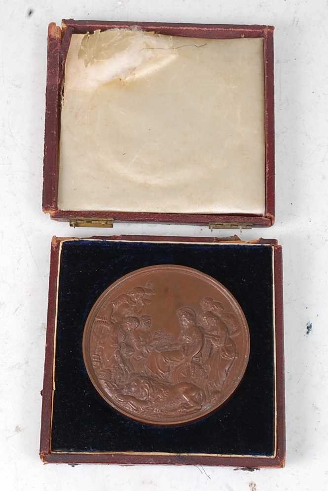 London Exhibition 1862, prize medal in bronze, awarded to REV. A. DUCANE. CLASS XXIX., engraved by - Image 4 of 6