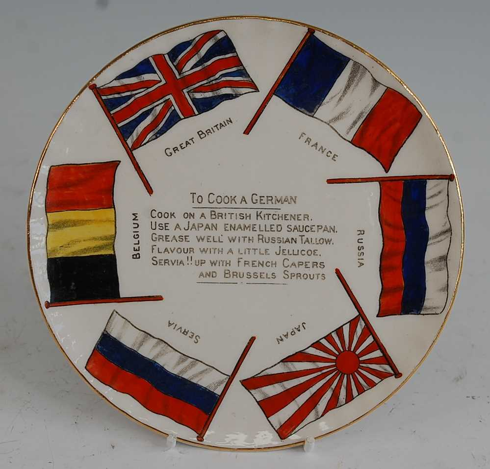 A collection of WW I / Military related crested cabinet china to include a W.H. Goss beaker - Image 10 of 12