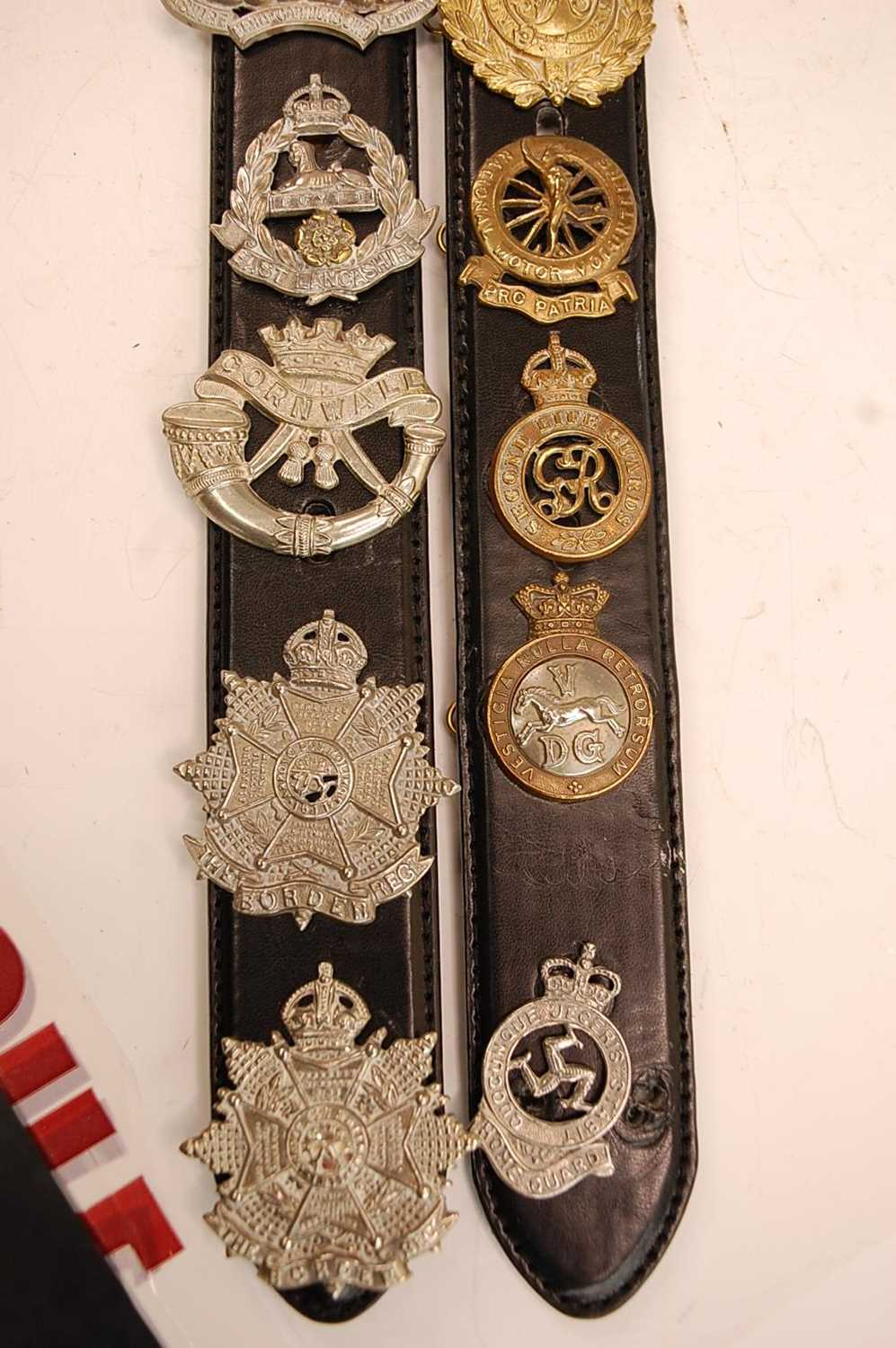 A collection of cap badges and insignia to include The Border Regiment, Cornwall Regiment, East - Image 9 of 9