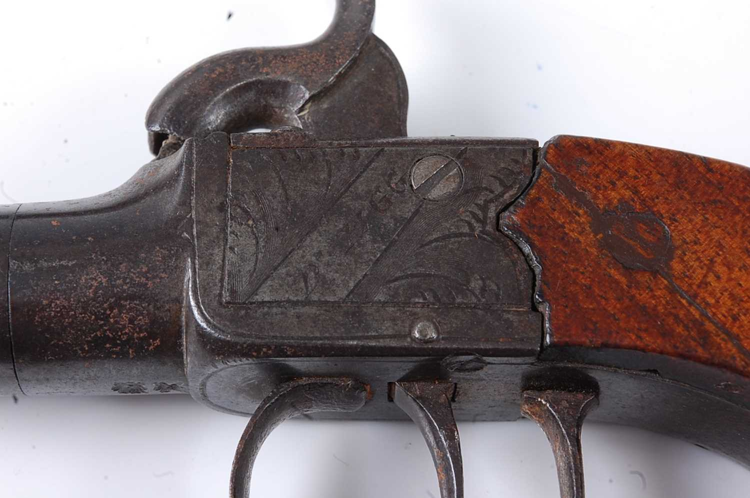 A pair of 19th century percussion box-lock pocket pistols by Durs Egg, each having a 4.5cm turn- - Image 2 of 7