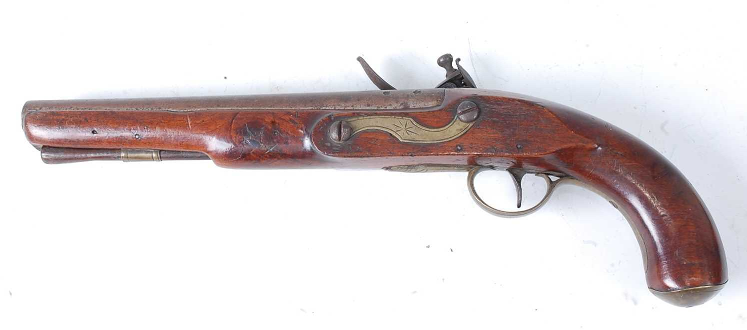 An early 19th century East India Company flintlock pistol, the 22cm barrel marked London, the - Image 5 of 7