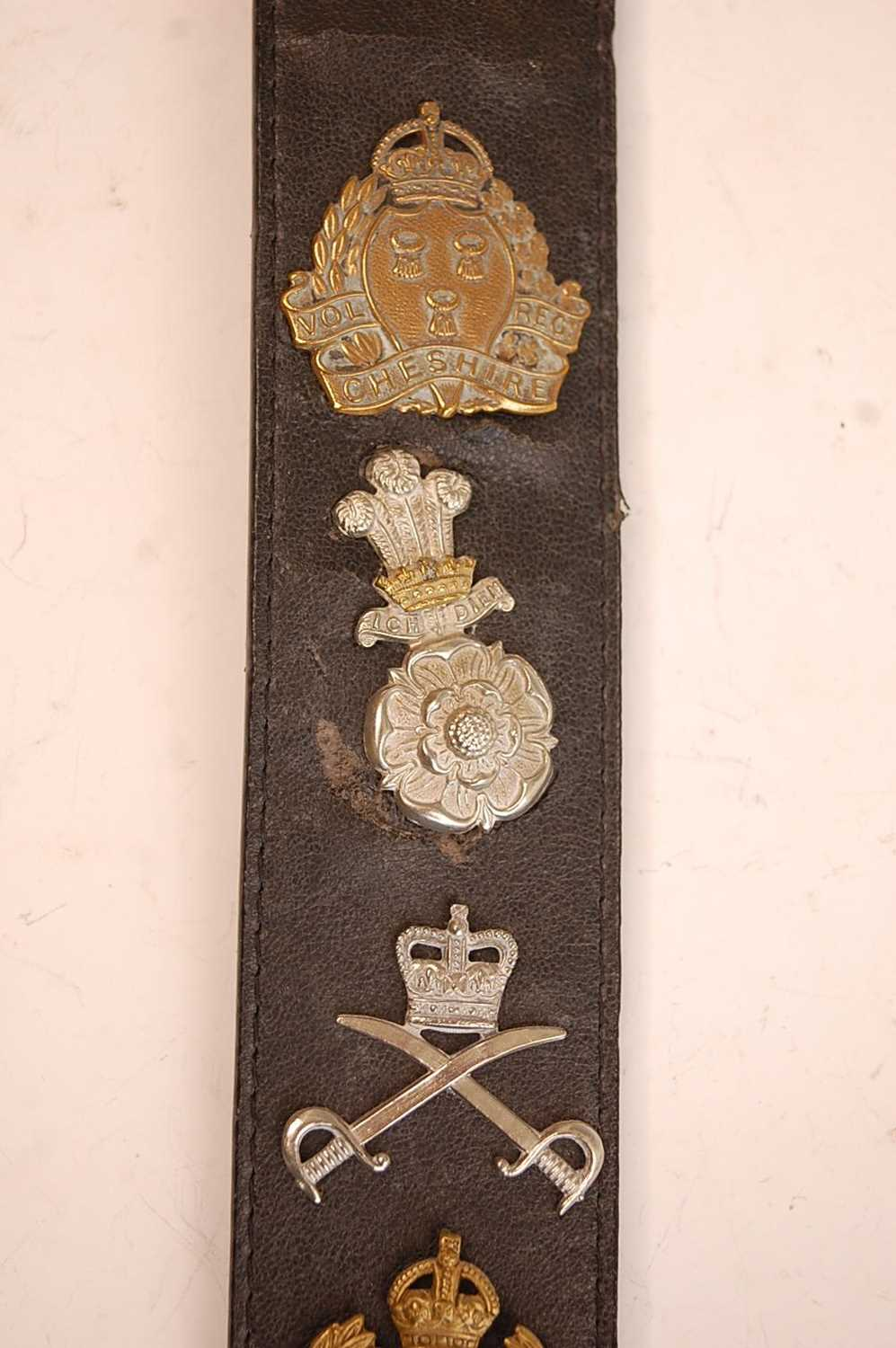 A collection of British Army Regiments cap badges and insignia to include East Surrey, Cornwall, 1st - Image 4 of 8