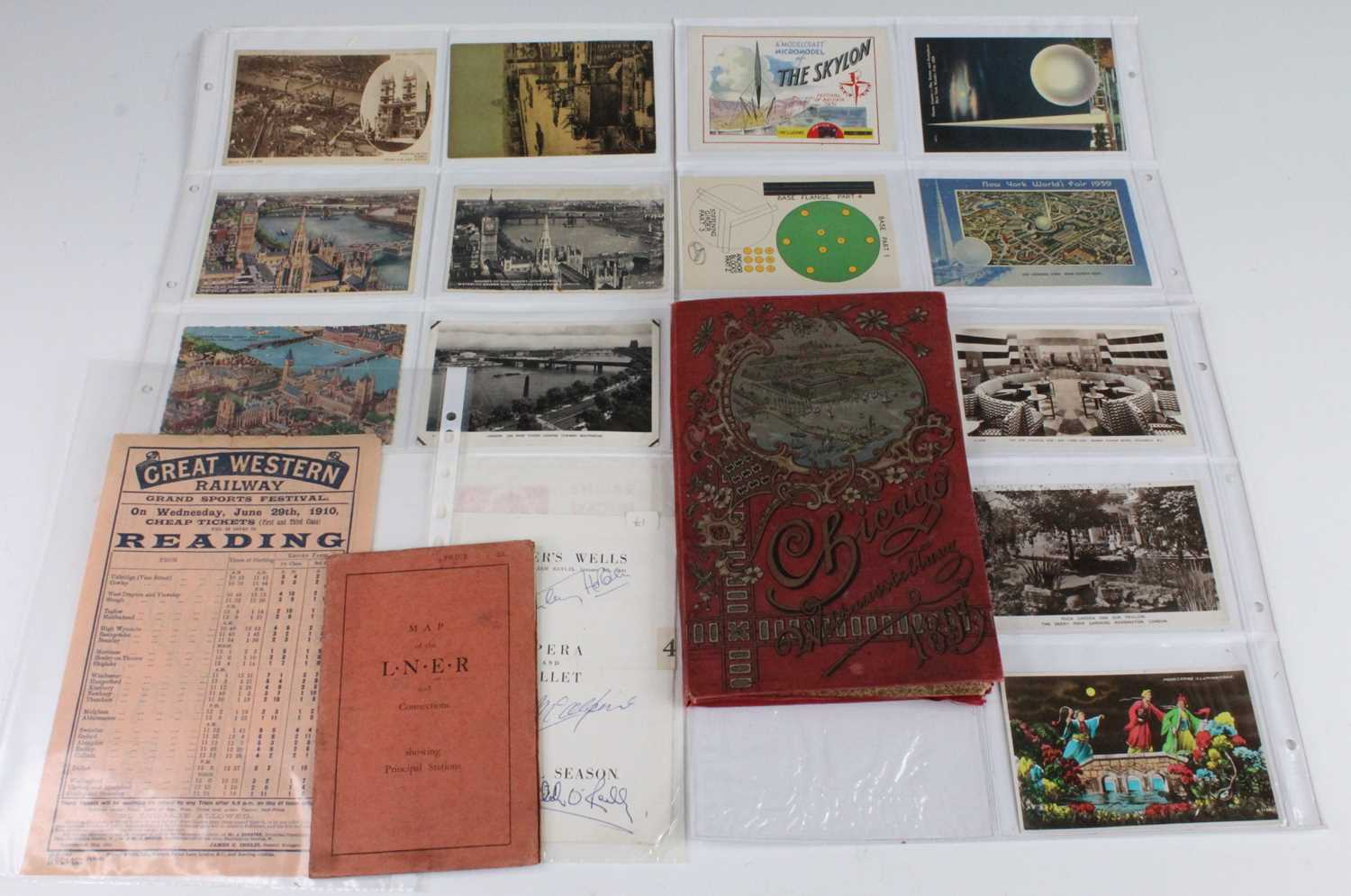 A collection of miscellaneous items relating to various British and World Exhibitions, to include