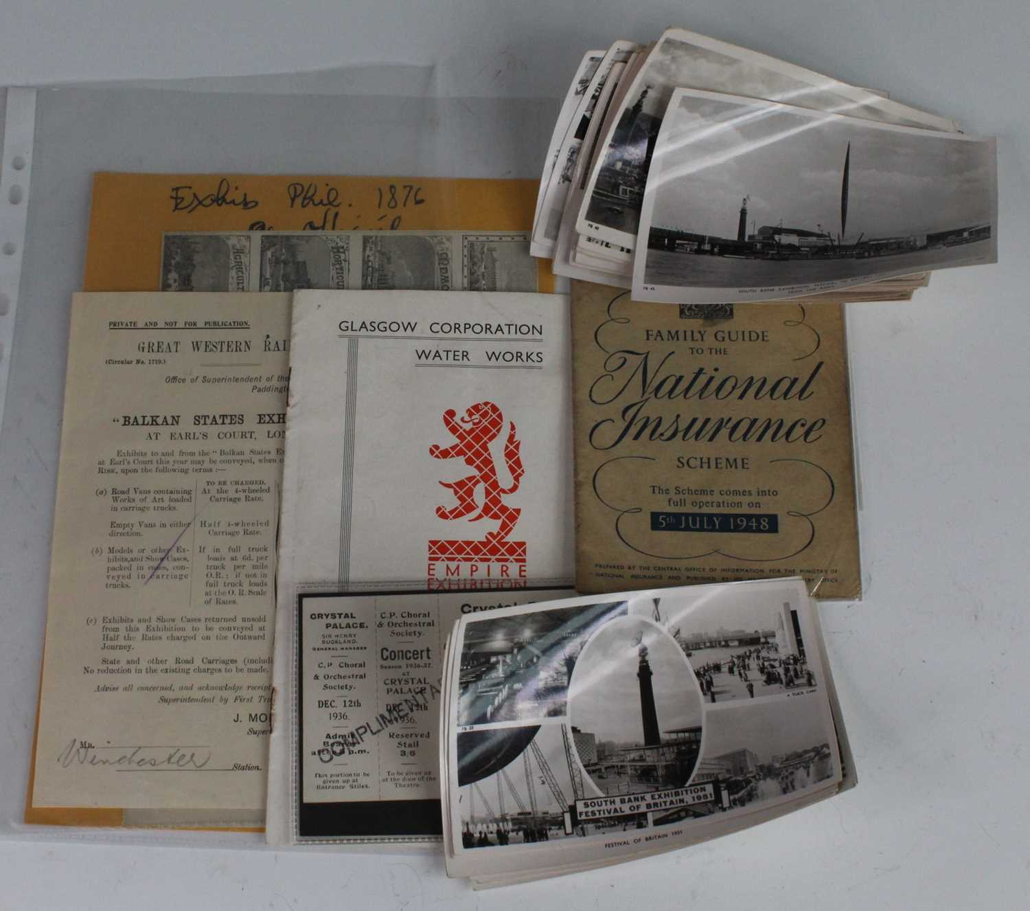 A collection of miscellaneous items relating to various British and World Exhibitions, to include - Image 2 of 4