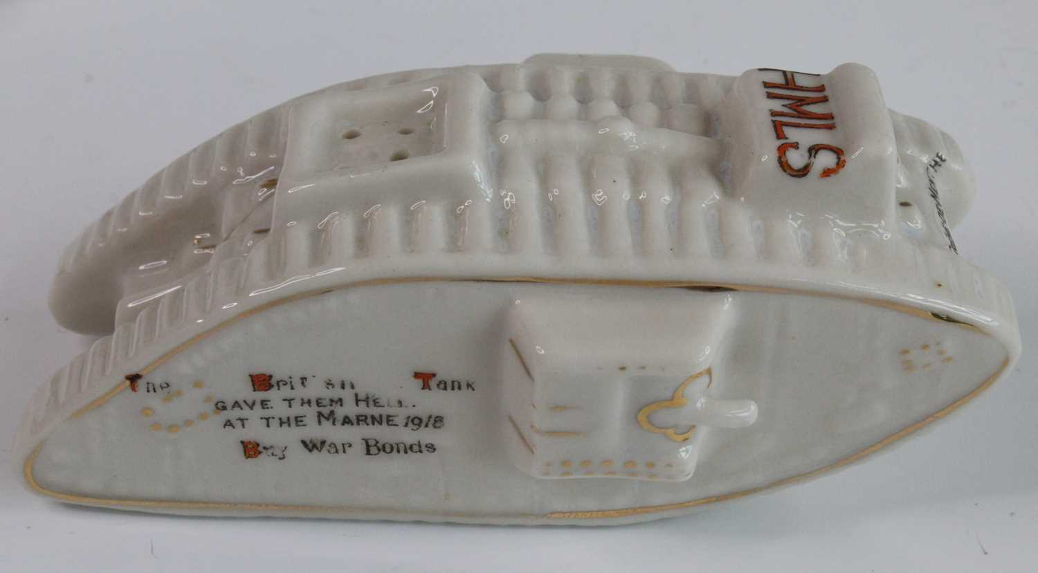 A collection of WW I / Military related crested cabinet china to include a W.H. Goss beaker - Image 7 of 12