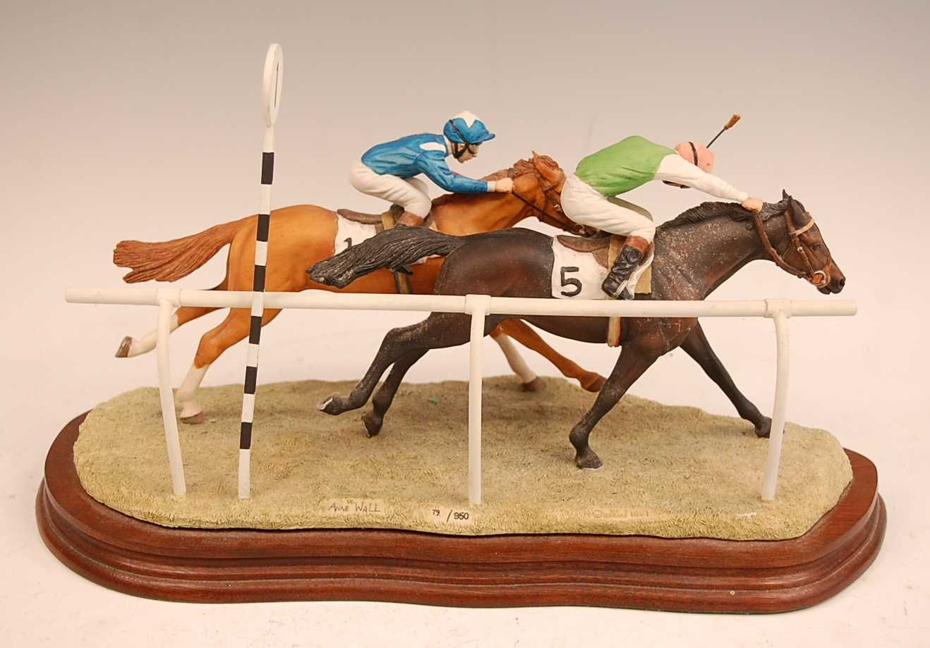 A Border Fine Arts figure group, The Final Furlong, model no. L.109 designed by Anne Wall, limited - Image 2 of 4