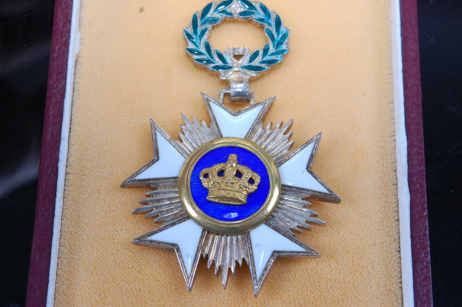 An Order of Merit of the Italian Republic, Knights 5th class breast badge, together with the - Image 3 of 6
