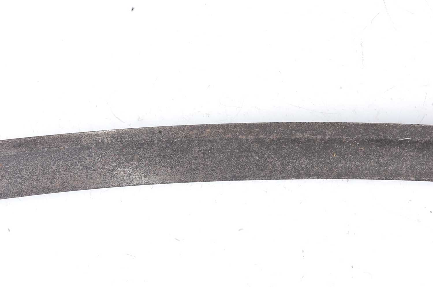 A British 1803? pattern Infantry sabre, having an 81cm curved blade with a pierced brass hilt, D - Image 9 of 11