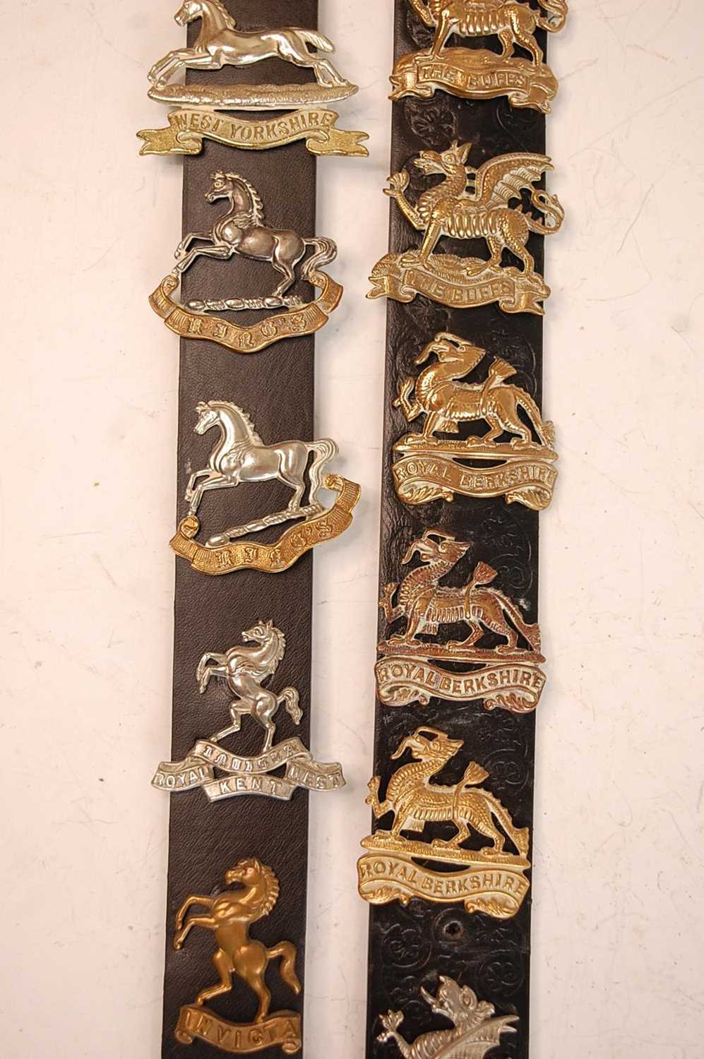 A collection of cap badges and insignia to include 7/11th Hussars, 3rd King's Own Hussars, West - Image 3 of 7