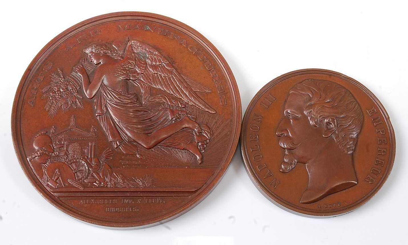 Ireland, Dublin International Exhibition 1865 Arts and Manufactures medal by Alexandre Geefs (1829-