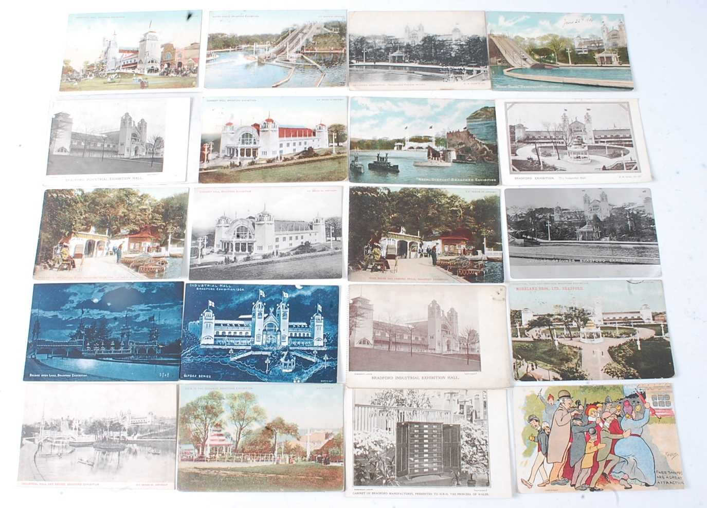 A large collection of 1951 Festival of Britain postcards, seemingly arranged by places or publishers - Image 5 of 9