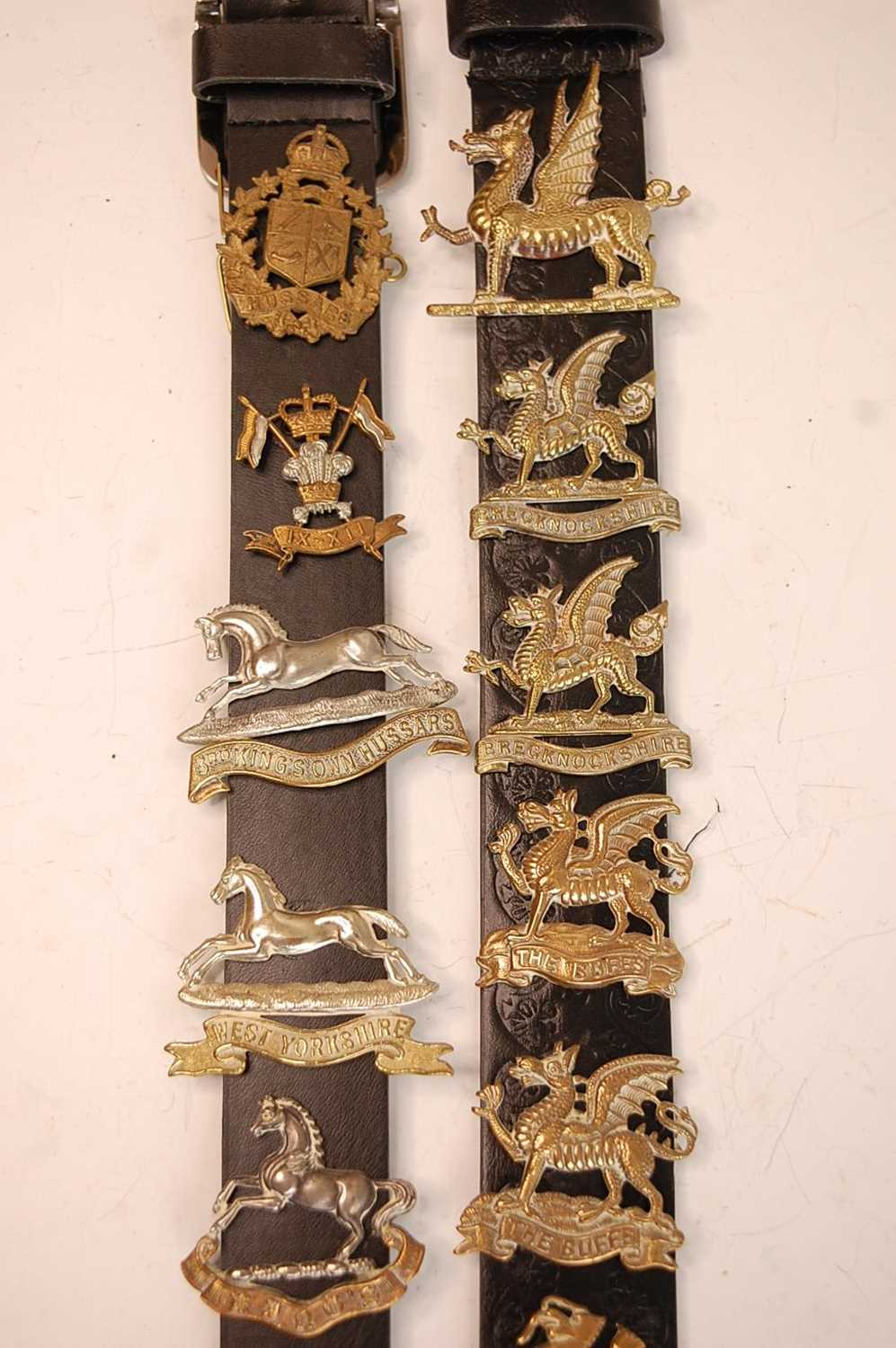 A collection of cap badges and insignia to include 7/11th Hussars, 3rd King's Own Hussars, West - Image 2 of 7