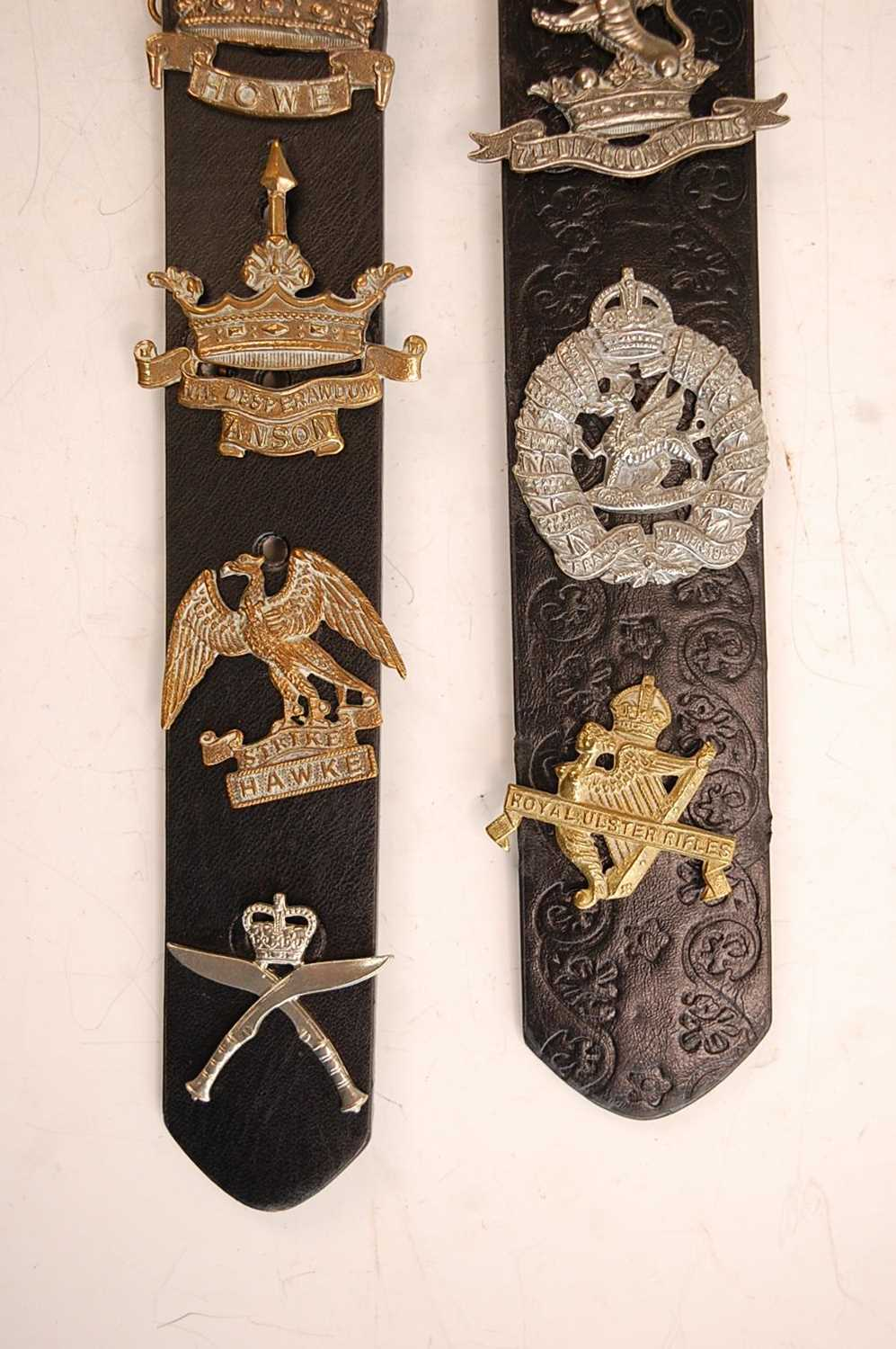 A collection of cap badges and insignia to include 7/11th Hussars, 3rd King's Own Hussars, West - Image 7 of 7