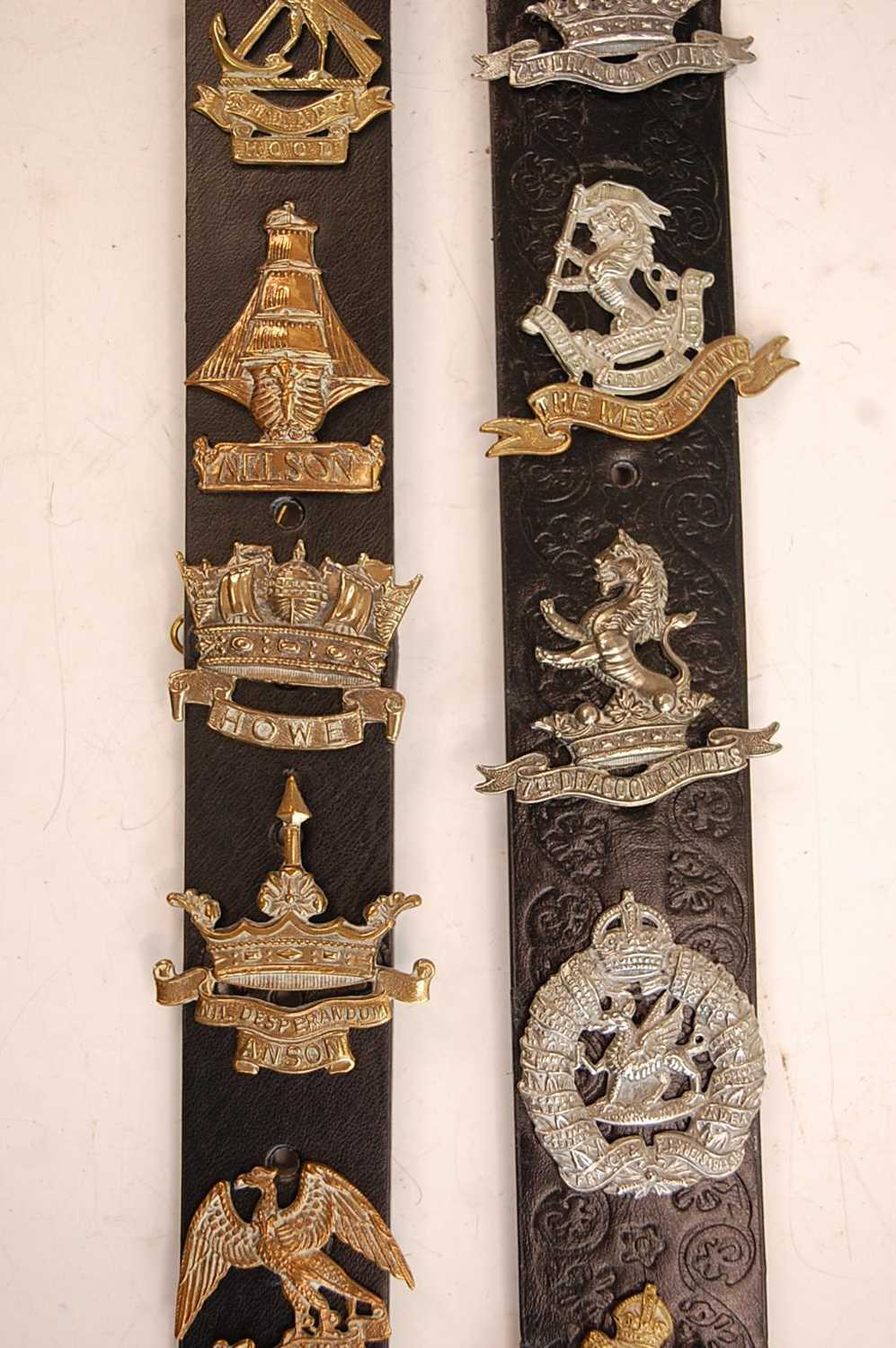 A collection of cap badges and insignia to include 7/11th Hussars, 3rd King's Own Hussars, West - Image 6 of 7